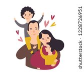 portrait of happy loving family.... | Shutterstock .eps vector #1228726951