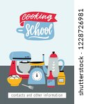 flyer template with kitchen... | Shutterstock .eps vector #1228726981