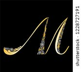 gold letter m  isolated on... | Shutterstock .eps vector #1228727191