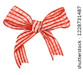 Red Checkered Bow Hand Drawn In ...