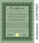 green diploma template. elegant ... | Shutterstock .eps vector #1228734067