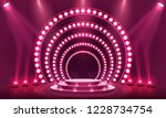 stage podium with lighting ... | Shutterstock .eps vector #1228734754