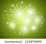 Starry Fireworks Green