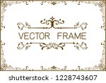 frame border template ... | Shutterstock .eps vector #1228743607