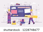 pair of servicemen or repairmen ... | Shutterstock .eps vector #1228748677