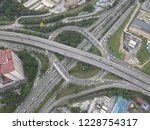 aerial drone photo of urban... | Shutterstock . vector #1228754317