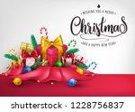 christmas creative 3d realistic ...   Shutterstock .eps vector #1228756837