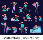vector people character. mother ... | Shutterstock .eps vector #1228758724