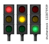 Set Of Vector Traffic Lights...