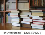 close up of several books... | Shutterstock . vector #1228764277