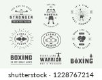 boxing and martial arts logo... | Shutterstock .eps vector #1228767214