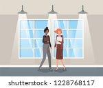 businesswomen couple in...   Shutterstock .eps vector #1228768117
