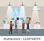 business people talking in...   Shutterstock .eps vector #1228768294