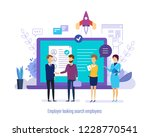 employer looking search... | Shutterstock .eps vector #1228770541