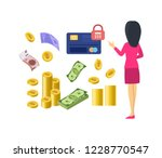 different types of money and... | Shutterstock .eps vector #1228770547