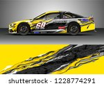 racing car livery design vector.... | Shutterstock .eps vector #1228774291