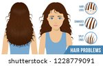 hair care. common problems  ... | Shutterstock .eps vector #1228779091