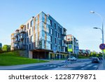 modern flat apartment building... | Shutterstock . vector #1228779871