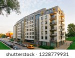 modern apartment house building ... | Shutterstock . vector #1228779931