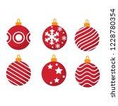 set of different christmas ball ... | Shutterstock .eps vector #1228780354