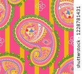 vector seamless pattern. indian ...   Shutterstock .eps vector #1228781431
