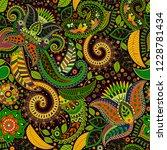 vector seamless pattern. indian ...   Shutterstock .eps vector #1228781434