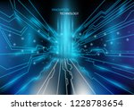 futuristic communication and... | Shutterstock .eps vector #1228783654