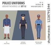 police uniforms around the... | Shutterstock .eps vector #1228791544