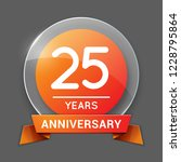 25   twenty five years... | Shutterstock .eps vector #1228795864