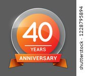 40   forty years anniversary... | Shutterstock .eps vector #1228795894