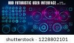 hud futuristic blue user... | Shutterstock .eps vector #1228802101