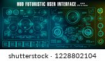 hud futuristic green user... | Shutterstock .eps vector #1228802104