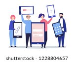 characters of people holding... | Shutterstock .eps vector #1228804657