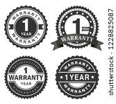 1 year warranty vector badge... | Shutterstock .eps vector #1228825087