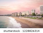 pink sunset at el sol beach  ... | Shutterstock . vector #1228826314