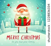 merry christmas  santa claus... | Shutterstock .eps vector #1228836334