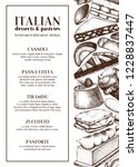 italian desserts menu design....   Shutterstock .eps vector #1228837447