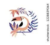toucan vector geometric...   Shutterstock .eps vector #1228839364