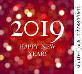 new year card with bokeh with... | Shutterstock .eps vector #1228844641