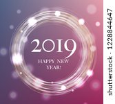 2019 new year banner with... | Shutterstock .eps vector #1228844647