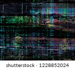 grunge style colorful painting... | Shutterstock . vector #1228852024