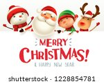 merry christmas  happy... | Shutterstock .eps vector #1228854781
