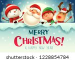 merry christmas  happy... | Shutterstock .eps vector #1228854784