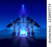 holiday theme. blue christian... | Shutterstock .eps vector #1228855774