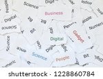 concept of written paper with...   Shutterstock . vector #1228860784