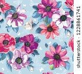 greeting pattern  wedding... | Shutterstock .eps vector #1228861741