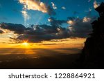 colorful dramatic sky with... | Shutterstock . vector #1228864921