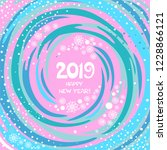 happy new year 2019 greeting... | Shutterstock . vector #1228866121
