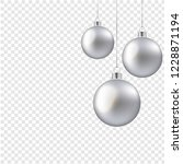 christmas balls isolated... | Shutterstock . vector #1228871194
