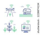agricultural innovation  smart... | Shutterstock .eps vector #1228874134